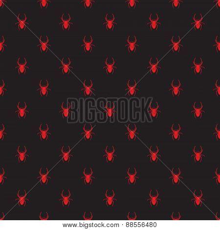 Vector Seamless Retro Pattern Spider