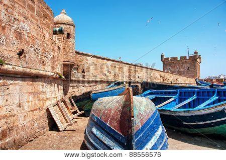 Boats in Essaouira, Morocco