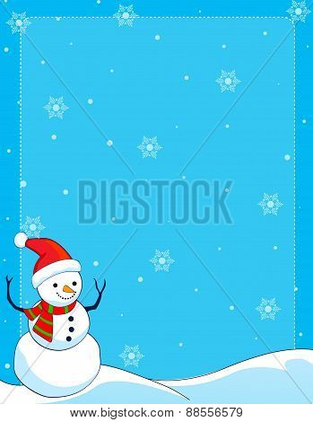 Snowman Winter Frame / Background