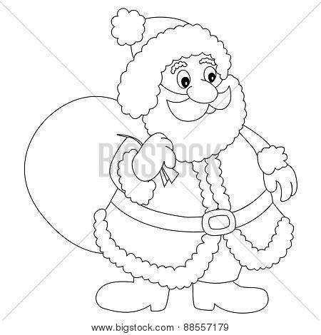 Santa Claus Line Art