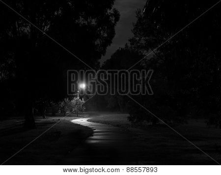 Creepy Bike Path At Night