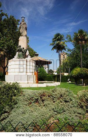Monument in park, Priego de Cordoba.