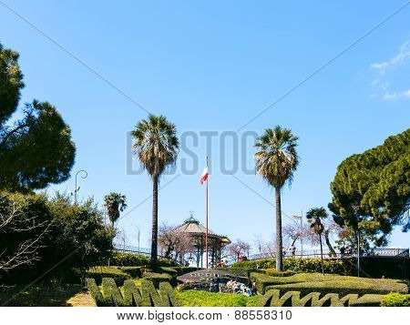 Bellini Garden In Catania City, Sicily