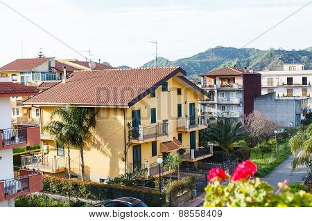 Urban Houses In Small Town Gaggi In Sicily,