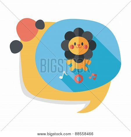 Lion Toy Flat Icon With Long Shadow,eps10