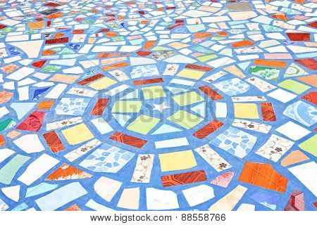 Background With A Pattern Of Floor Tiles