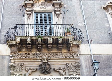 Urban House With Baroque Style In Catania, Sicily