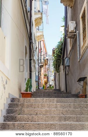 Alley Via Ciraulo In Catania City, Sicily