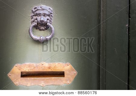 Knocker And Letter Box