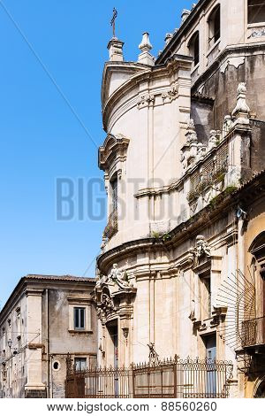 Side View Of Church San Benedetto In Catania