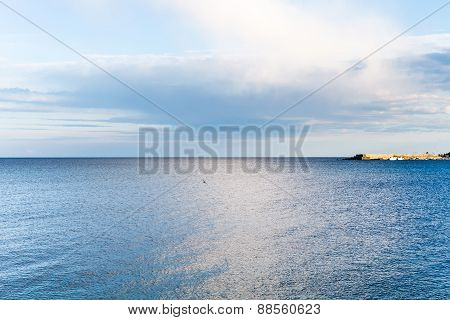 Mole And Ionian Sea Near Giardini Naxos Town