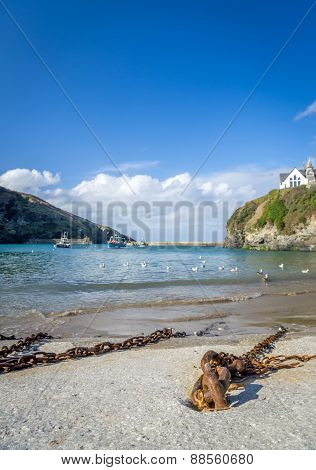 Port Isaac in cornwall england UK