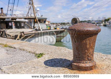 Bollard In Port