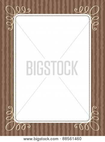 Swirl Frame For Invitations