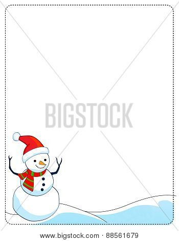 Snowman Winter Frame