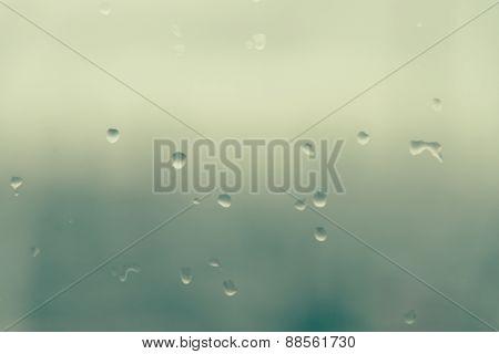 Mirror With Rain Drop Blur Background