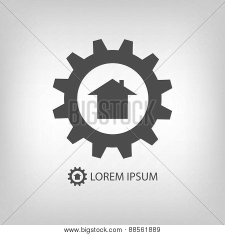 Grey construction company logo