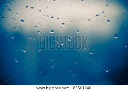Mirror With Rain Drop In Building