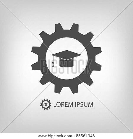 Grey engineering education logo