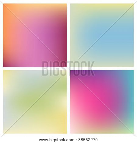 Set of four beautiful blurred backgrounds