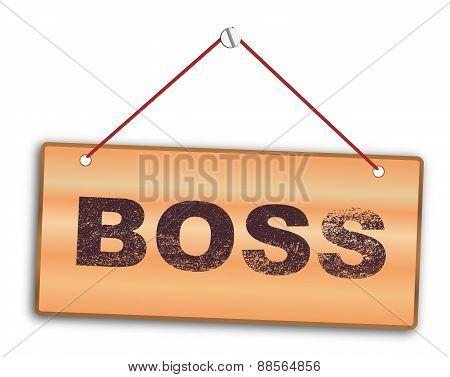 Boss Sign