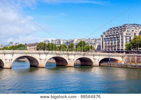 Pont Neuf, The Oldest Bridge Across Seine River, Paris