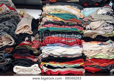 Many Different Clothes In The Closet