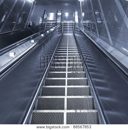Long Escalator Leading Downwards