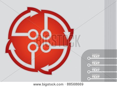 Business Template, Graph And Flow Diagram Illustration