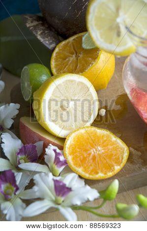 Fresh Lemon And Orange