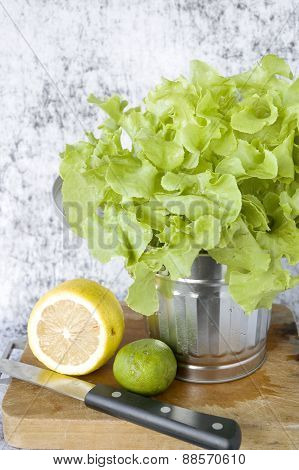 Lettuce With Lemon And Lime