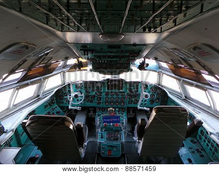 Aircraft cockpit inside