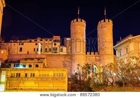 Porta Soprana, An Ancient Gate Of Genoa, Italy