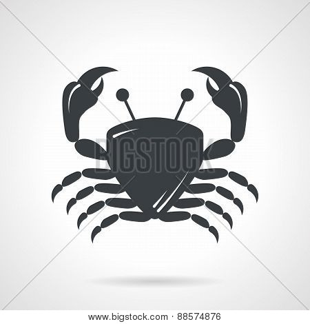 Crab black vector icon