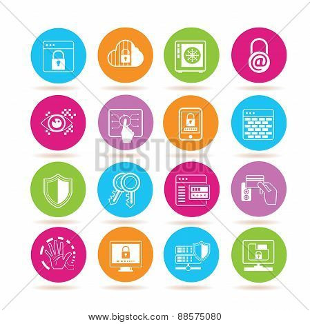 network data security icons