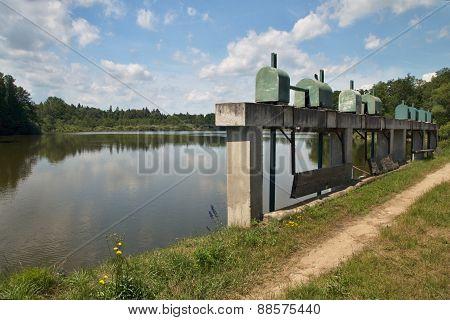 Sluice gate on the dam