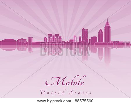 Mobile Skyline In Purple Radiant Orchid