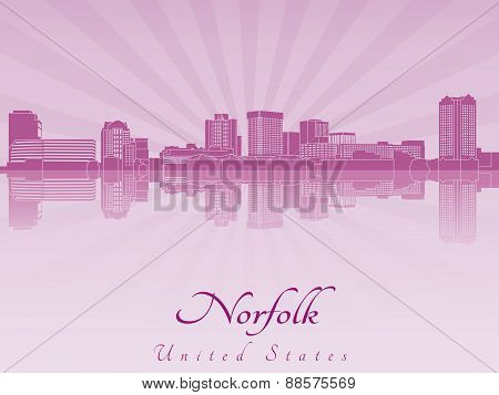 Norfolk Skyline In Purple Radiant Orchid