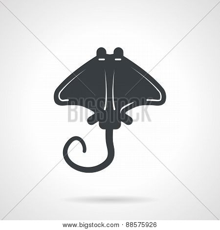 Cramp-fish black vector icon