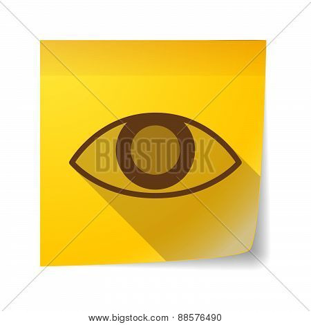 Sticky Note Icon With An Eye