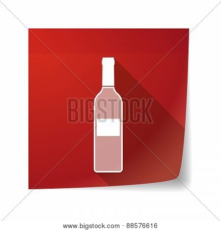 Sticky Note Icon With A Bottle Of Wine