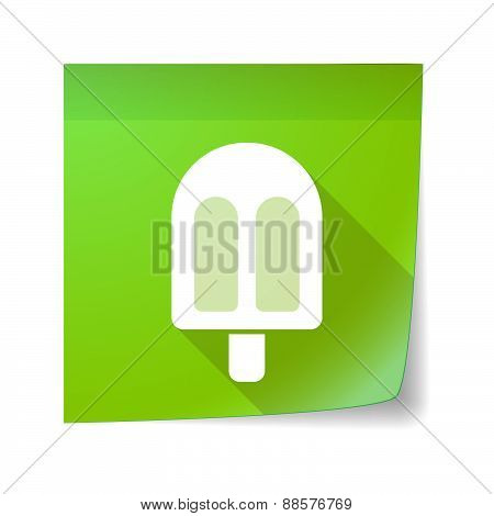 Sticky Note Icon With An Ice Cream