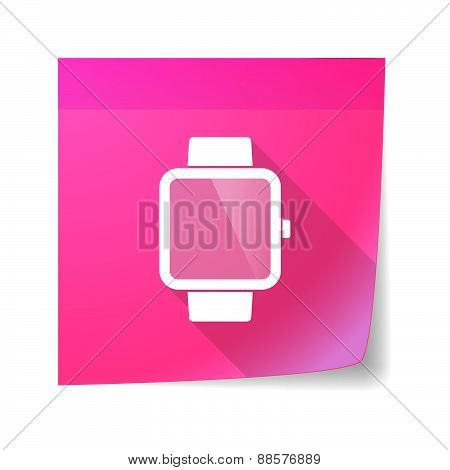 Sticky Note Icon With A Smart Watch