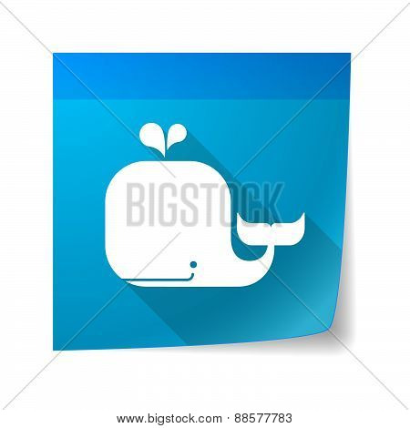 Sticky Note Icon With A Whale
