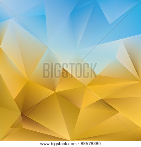 Abstract triangular background.