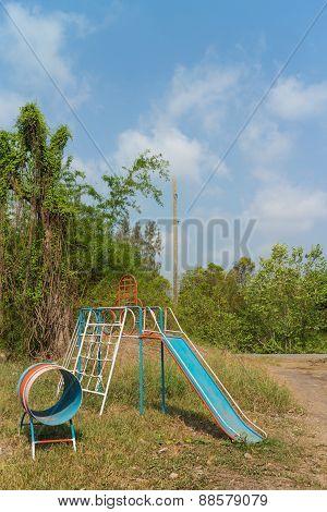 play equipment for children under sunlight
