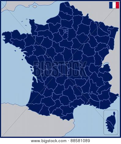 Blank Map of France