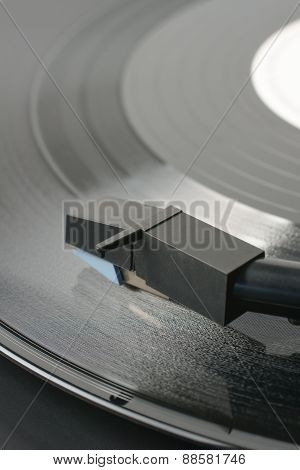 Vinyl Record and Stylus