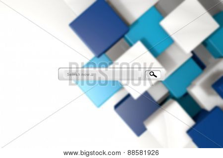 Search engine against blue and white tile design