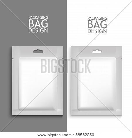 Mockup Blank Foil Packaging.